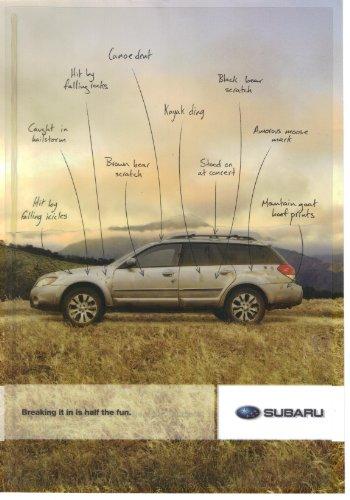 Magazine Print Ad: 2010 Subaru Outback,