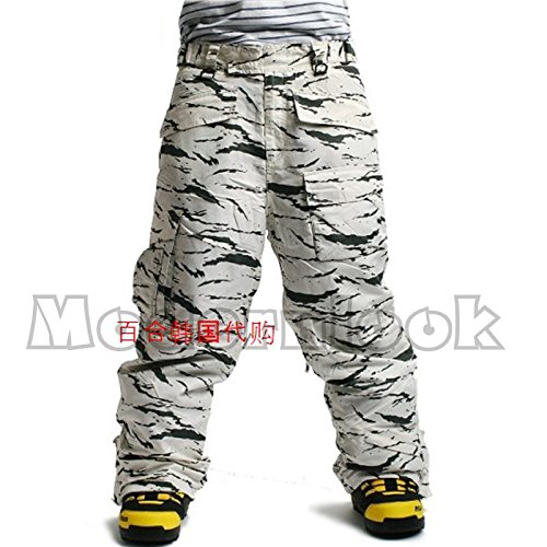 c3952a53ae8 85%OFF Southplay Mens Waterproof Ski-snowboard White Camo Military Jacket  and Pants SET