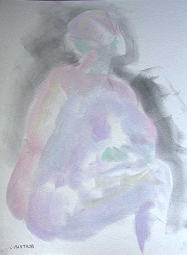 Female Seated Nude Pastel No lines Dreamy Mysterious Drawing