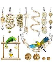 Allazone 13 sztuk drążków do siedzenia dla ptaków, huśtawka z papugi, huśtawka dla ptaków, ptaków, zabawka dla ptaków, papugi, huśtawka zabawka