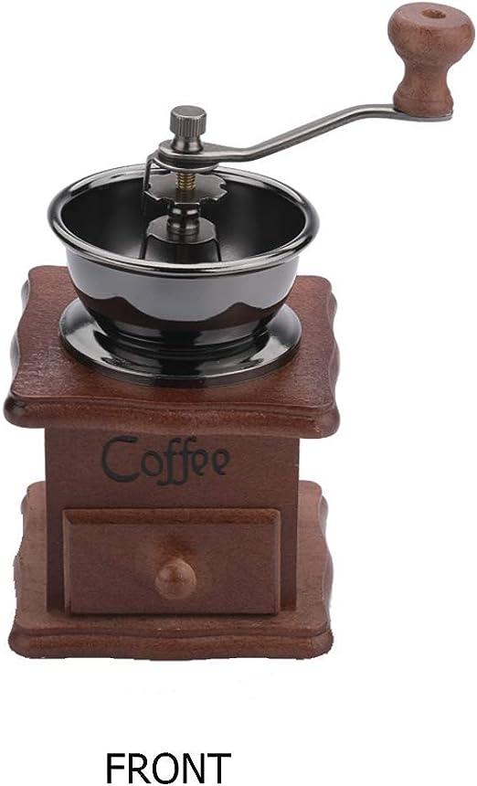 Antique coffee grinder Vintage kitchen accessories wood coffee mill grinder retro coffee grinder hand crank coffee lovers gift kitchen decor