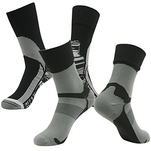 RANDY SUN Outdoor Recreation Socks, Men Women Suitable for Motorcycling Fishing and Hunting Mid Calf Socks Black M