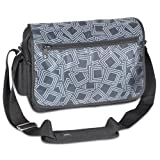 Everest Luggage Casual Messenger Briefcase, Gray/Black, Gray/Black, One Size