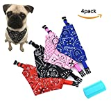 Care4U Dog Bandanas, 4 Pack Pet Puppy Bibs Triangle Scarfs Accessories for Dogs, Pets, Cats, Dog Birthday Party Gifts Supplies