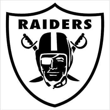 amazon com oakland raiders logo decal 18 black automotive rh amazon com raiders skull logo hd