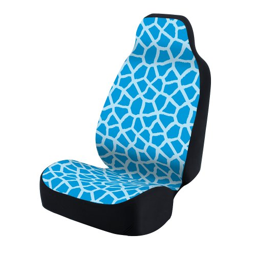 Coverking Universal Fit 50/50 Bucket Animal Fashion Print Seat Cover - Giraffe (Blue)