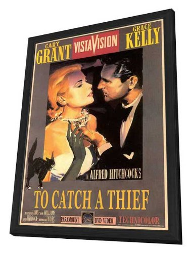 Movie Posters To Catch a Thief - 27 x 40 Framed (Kelly Movie Poster)