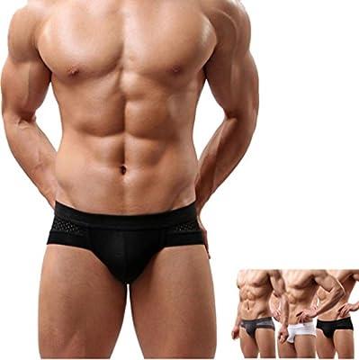 b6a56dc80ba1 Ropa interior masculina Sexy Algodón Suave Impresión Respirable Transparente  Estuche abultado talle bajo Calzoncillos boxer de hombres Pantalones cortos  ...