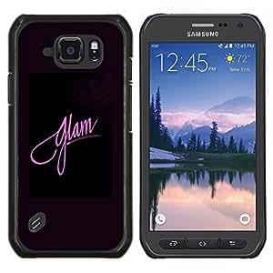 EJOOY---Cubierta de la caja de protección para la piel dura ** Samsung Galaxy S6Active Active G890A ** --Moda rosada púrpura Negro Posters
