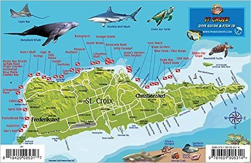St. Croix USVI Dive Map Fish ID Virgin Islands Franko Maps ...