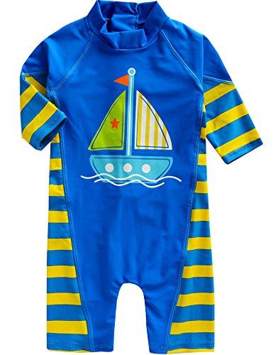 Vaenait Baby 0-24M Infant Boys Longsleeves One piece Swimsuit Baby Beachboy S