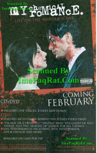 My Chemical Romance: Life of the Murder Scene: Great Original DVD & CD Release Photo Print Ad!