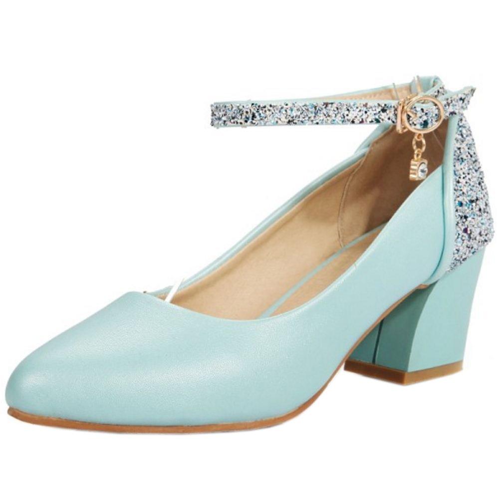 Zanpa Damen Pumps Ladies Glitter35 EU|Blue