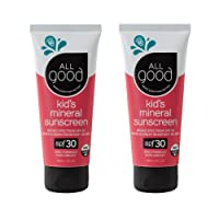 All Good Baby & Kids Mineral Sunscreen Lotion - SPF 30 - Zinc Oxide - Coral Reef...