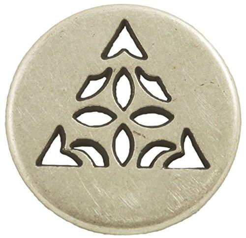 Celtic Triangle Button - Silver Finish. 3/4