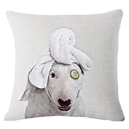 JES&MEDIS Bull terrier Cushion Covers Dog Pet Pillow Cases For Kids Bedroom Decor,18