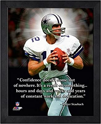 Sports Cowboys Nfl Dallas Collectibles Staubach Roger com Pro Quotes Framed Amazon 16x20