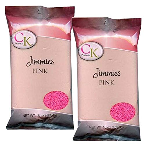 (CK Products Pink Jimmies/Sprinkles Decorations 1lb. Bag (2PK))