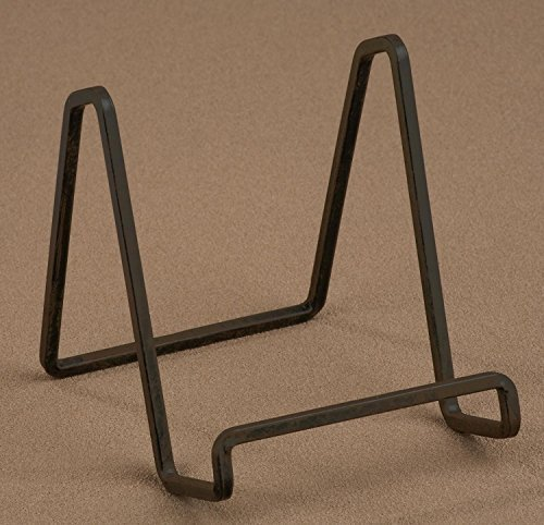 1-x-4-mahogany-metal-square-wire-stand-plate-photo-holder-display-by-tripar