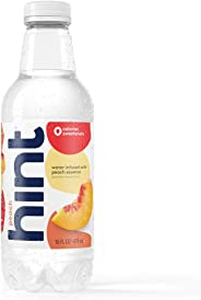 Hint Water Peach, (Pack of 12) 16 Ounce Bottles, Pure Water Infused with Peach, Zero Sugar, Zero Calories, Zero Sweeteners, Z