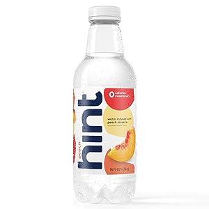Hint Water Peach, (Pack of 12) 16 Ounce Bottles, Pure Water Infused with Peach, Zero Sugar, Zero Calories, Zero Sweeteners, Zero Preservatives, Zero Artificial Flavors