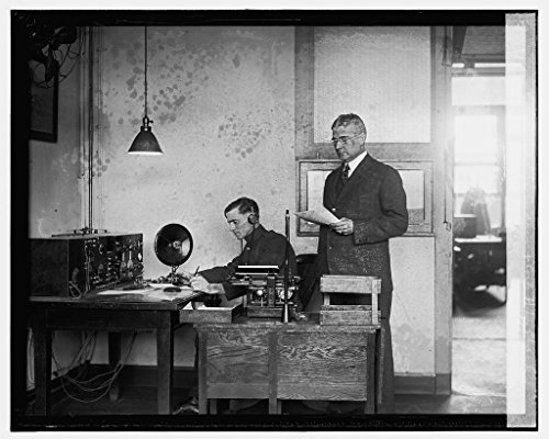 16 x 20 Gallery Wrapped Frame Art Canvas Print of Radio relay transmission record Gen. Saltsmann & Corp. H.L. Clark, 11/30/25 1925 National Photo Co 42a