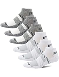 Mens Performance Athletic Running Low Cut Socks (6 Pair Pack). BERING