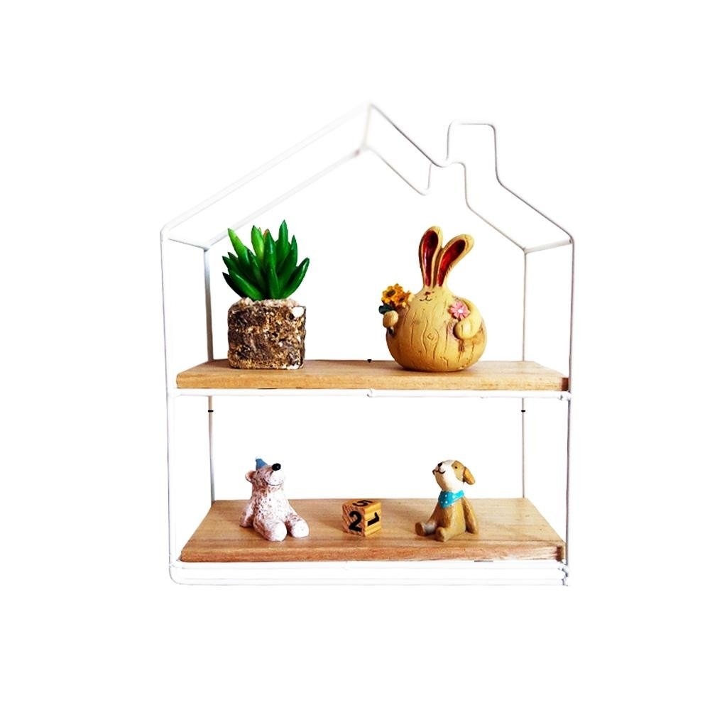 Mustbe strong Wall Shelf Creative Art Handicraft Wall top Shelf Hotel Coffee House Wall Decoration Home Mount Hanging Ornaments, Height of 28cm, White