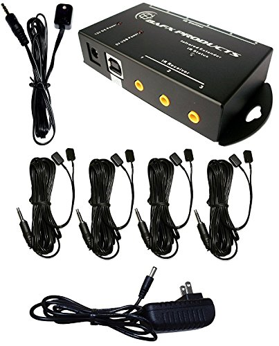 BAFX Products (Infrared) IR Remote Control Extender or IR Repeater Kit - Control 1 to 8 Devices (Expandable to - Tv Lcd Receiver
