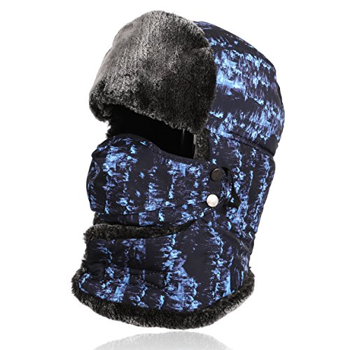 HELLOYEE Faux Fur Super Warm Trooper Trapper Hat For Men Women