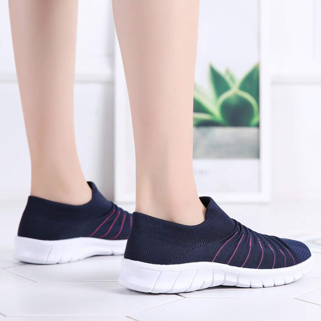 Moonker Womens Arch Support Sneakers Wide Width Running Shoes Ladies Girls Fashion Outdoor Mesh Casual Shoes