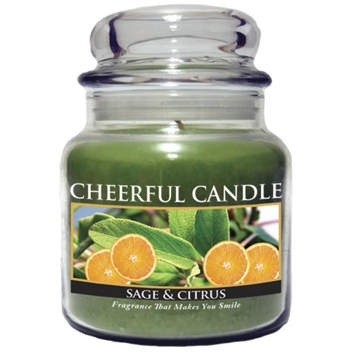 (A Cheerful Giver Sage and Citrus Jar Candle, 16-Ounce)