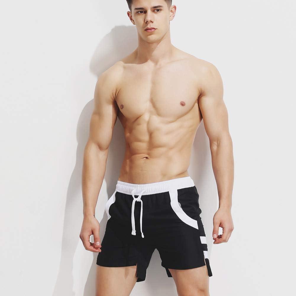 RCFRGV Beach shorts Summer Cool Man Board Shorts Breathable Men Beach Shorts Loose Beach Short Pants Black