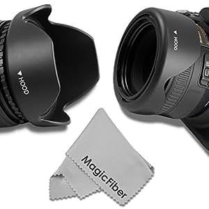 58MM Reversible Flower Lens Hood (2013 Update) for Canon EOS Rebel (T5i T4i T3i T3 T2i T1i XT XTi XSi SL1 650D 1100D 550D and More)