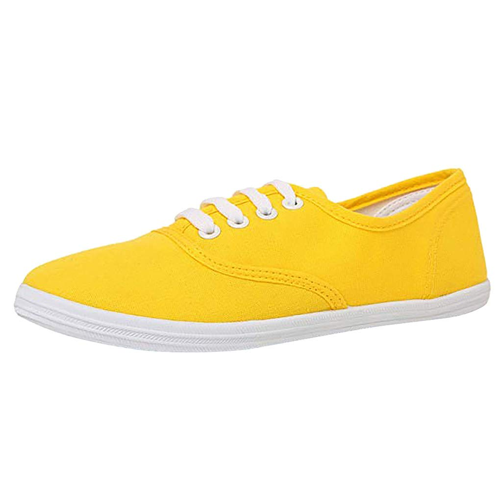 Shusuen Women Canvas Sneaker Women's Marley Sneakers Yellow by Shusuen_Shoes