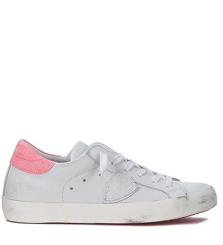 Philippe Model Sneakers Paris in Leder Weiss und Fluo Rosa: Amazon.de:  Schuhe & Handtaschen