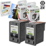 LD Remanufactured Replacement for Hewlett Packard (HP 27) C8727AN Set of 2 ink Cartridges & FREE 20pk of LD 4X6 Photo Paper