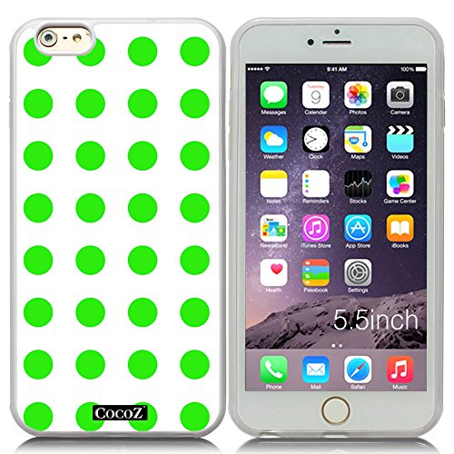 New Apple iPhone 6 s Plus 5.5-inch CocoZ® Case Simple Lovely Polka Dot for Apple iPhone 6 s Plus 5.5-inch Release on 2014 (Transparent&Transparent TPU 32) -