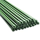 BTSD-home Garden Stakes 5 Ft Steel Plant Stakes Sturdy Tomato Stakes, Pack of 25