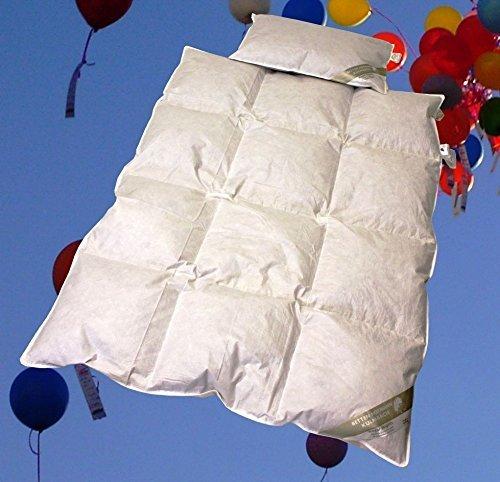 Betten Hofmann Baby Kinder Daunenbett Set 100x135cm mit Kopfkissen 40x60cm
