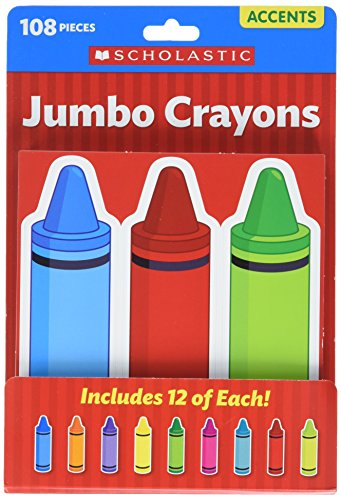 Scholastic Classroom Resources Jumbo Crayons Accents (0545654009) ()