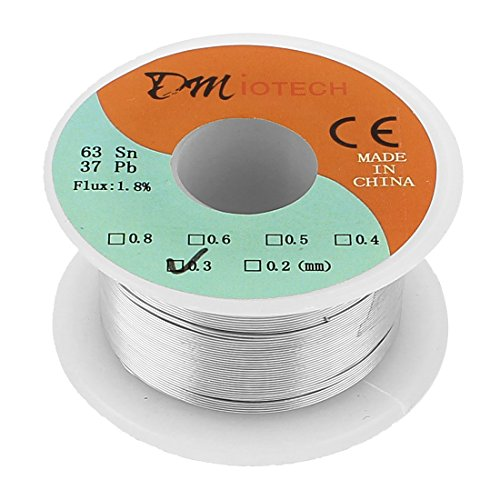 DMiotech 0.3mm 35G 63/37 Tin Lead Roll 1.8% Flux Soldering Wire Reel