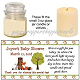 Baby : 56 Personalized Fox Forest Woodland Animals Shower Candle Party Favor Labels It's a Boy!