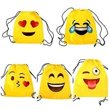Lote de 20 Mochilas Petate Emoticonos - Mochilas Escolares, Merienda, Infantiles, Infantil para niños y niñas. Regalos, Detalles y Recuerdos Invitados ...