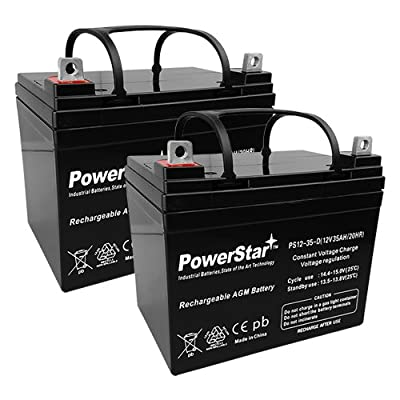 2 Pack - 12V 35Ah U1 Hoveround MPV1, MPV2, MPV3, MPV4, MPV5 Battery - DEEP CYCLE