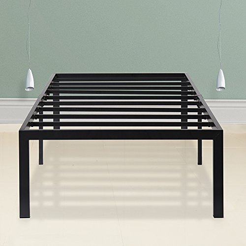 SLEEPLACE 18 Inch Tall Heavy Duty Steel Slat Bed Frame ST-3000 (Cal King)