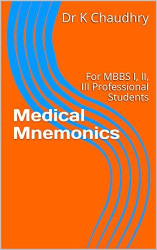 Amazon com: Medical Mnemonics: For MBBS I, II, III
