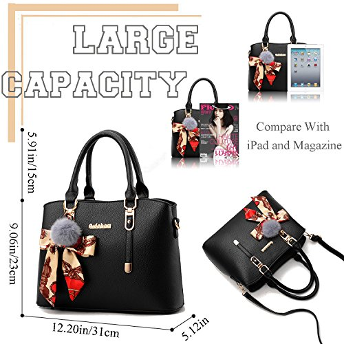 Black Purses ACLULION Satchel and Tote Womens Top Shoulder Large Handle Bag Bag Handbags qHHRxwC