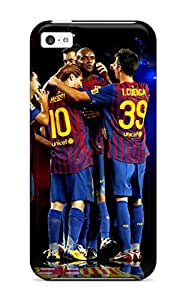 New LSJYrTa6608cWoMd Fc Barcelona Soccer Ball Players League Champions Uefa Calcio Cup People Sports Skin Case Cover Shatterproof Case For Iphone 5c