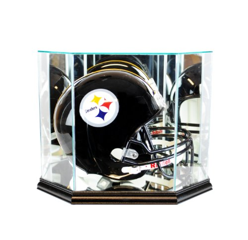 Perfect Cases NFL Octagon Full Size Football Helmet Glass Display Case, Black